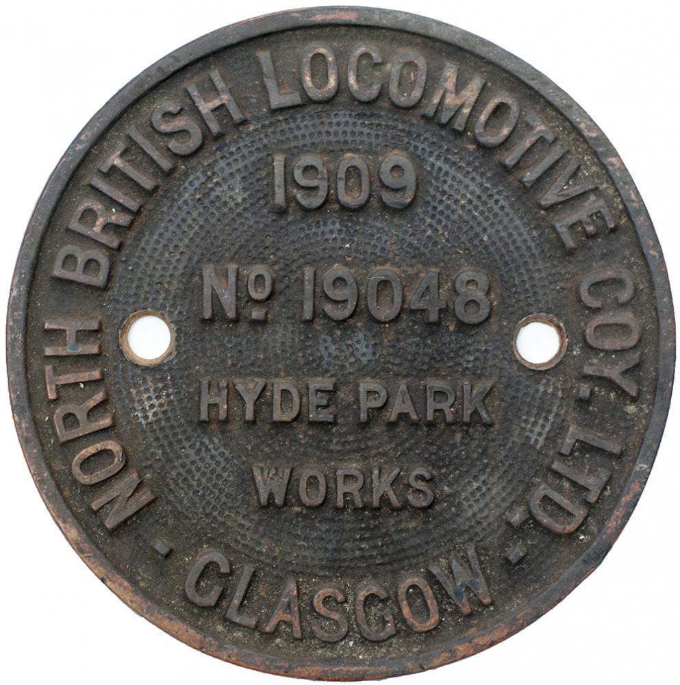 Worksplate NORTH BRITISH LOCOMOTIVE COY LTD