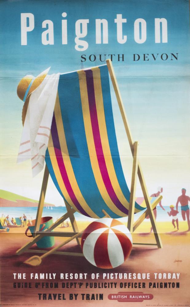 Poster BR(W) PAIGNTON SOUTH DEVON By R. Lander.