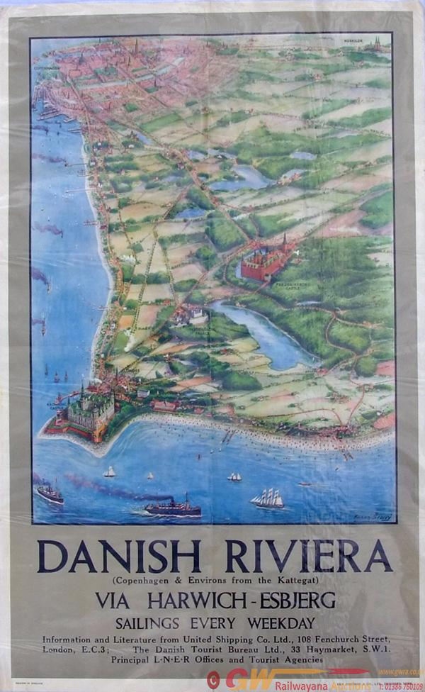 Poster, LNER And United Shipping Company, D/R