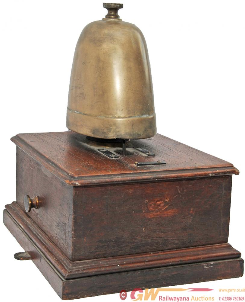 Signal Box Block Bell With Large Cow Bell. In