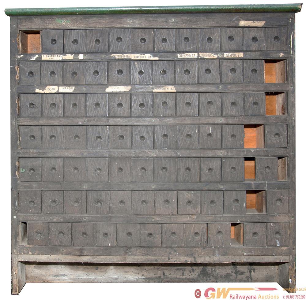 Wooden Ticket Cabinet Ex Corton Station (Norfolk &