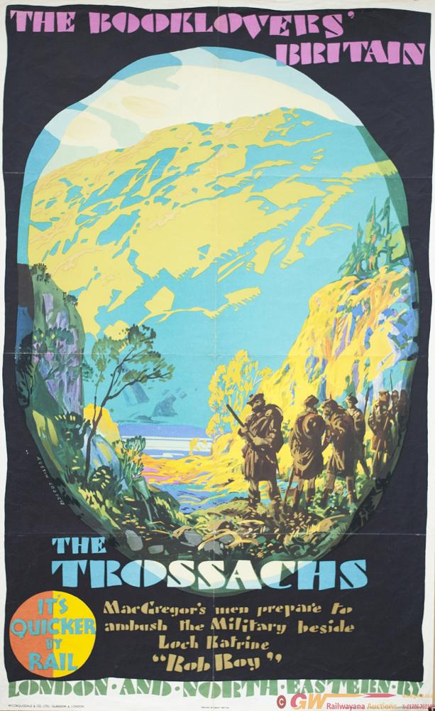 Poster LNER THE BOOKLOVERS BRITAIN THE TROSSACHS