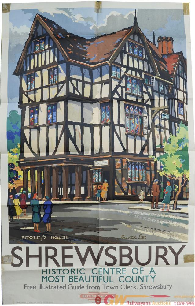 Poster 'Shrewsbury - Rowley's House' By Kenneth