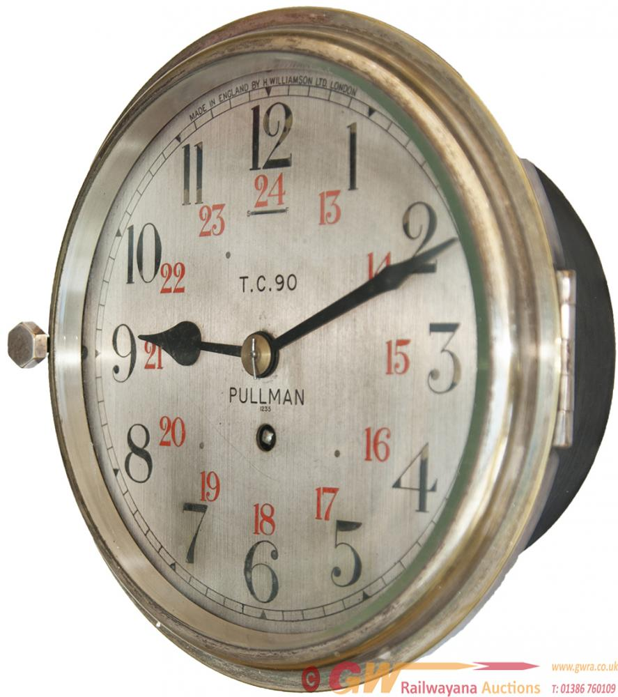 Pullman Brass Cased 8in Railway Clock, Dial