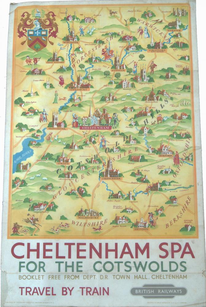 Poster, CHELTENHAM SPA (Illustrated Map) By Lee,