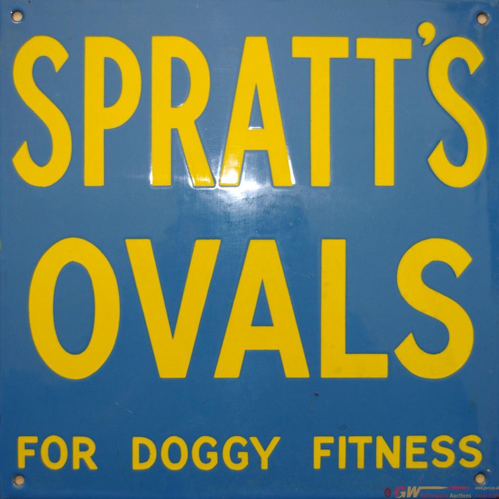 Enamel Advertising Sign 'Spratt's Ovals For Doggy