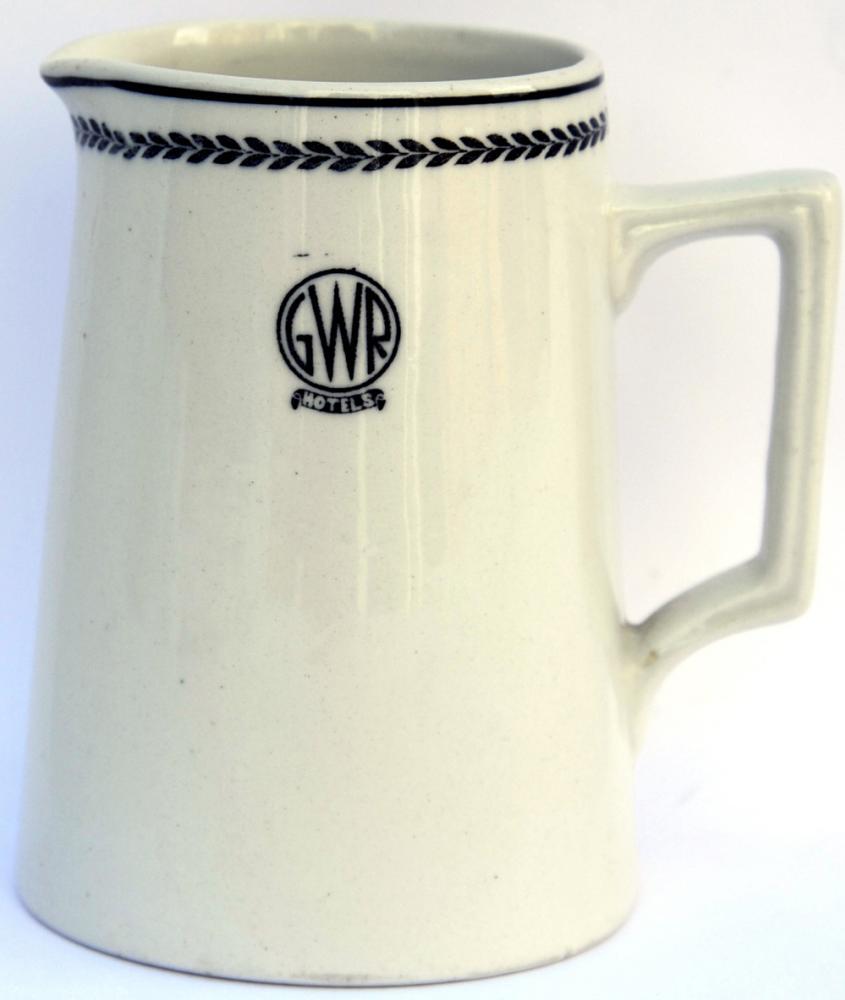 GWR Hotels Black Leaf Milk Jug. Stands 4