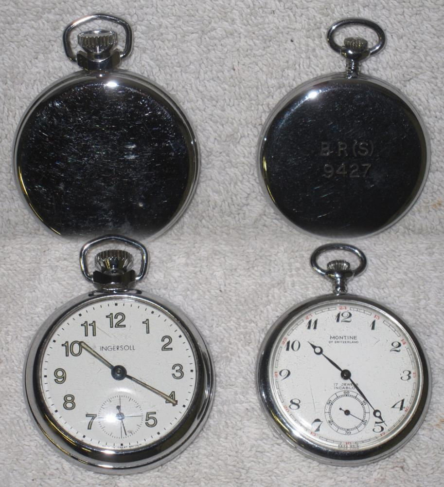 Two Pocket Watches. One Railway Guards Watch