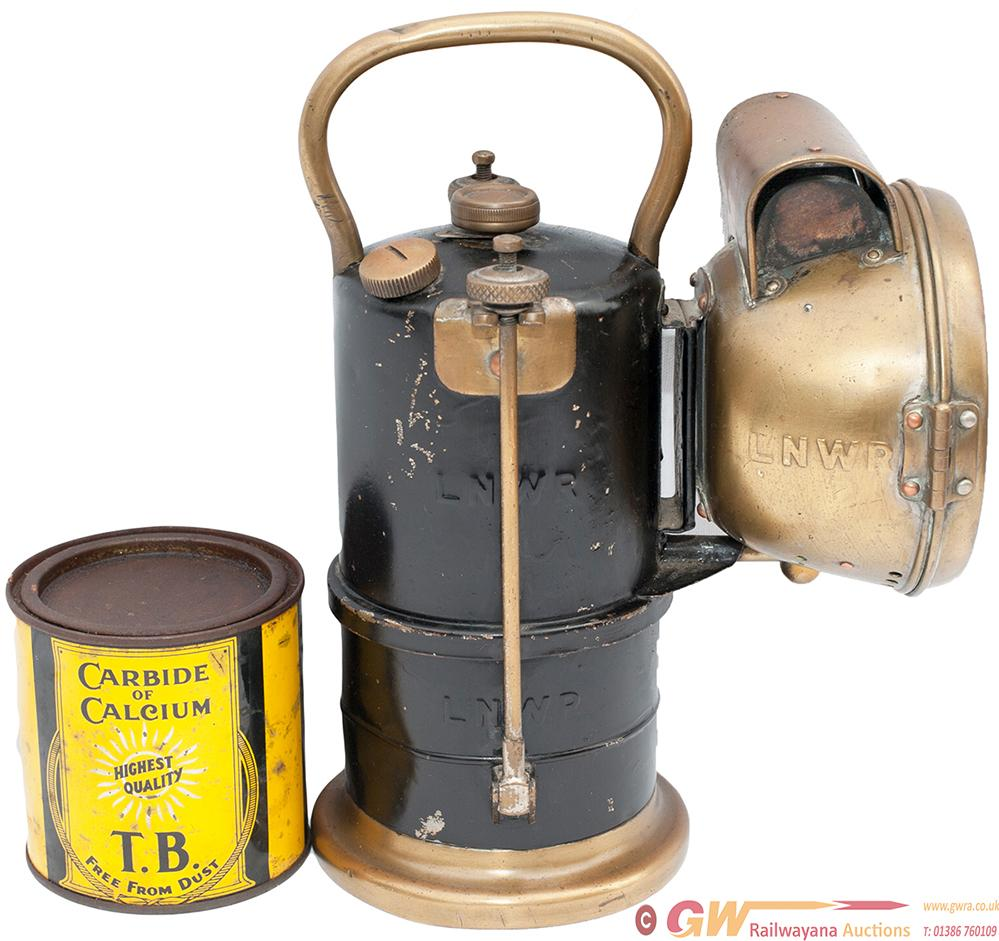 LNWR Carbide Handlamp, Complete And Embossed 3
