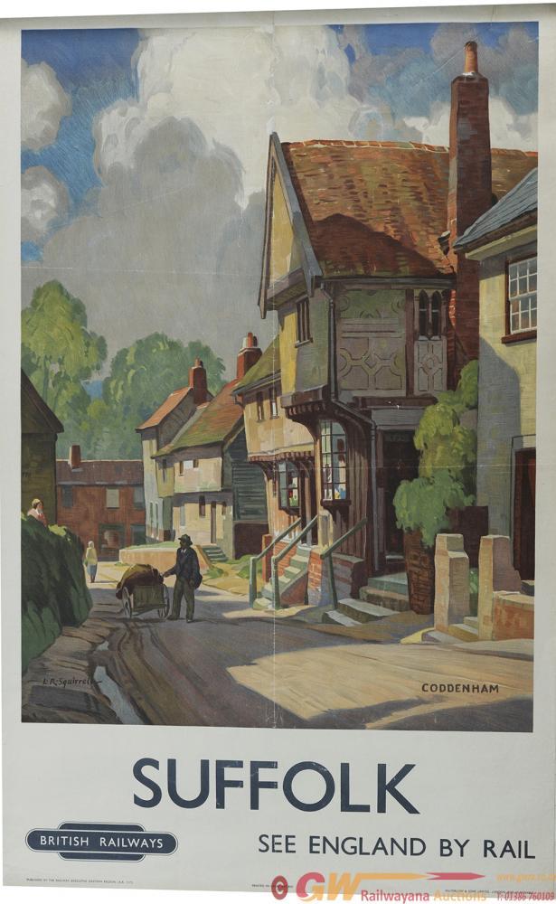 Poster BR 'Suffolk - Coddenham' By L.R. Squirrell,