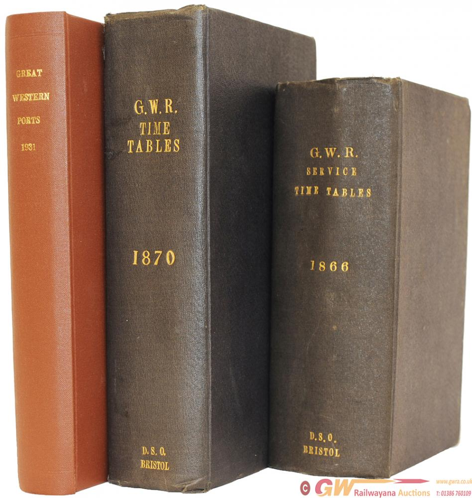 GWR Timetable Books, Hardback Dated 1866 And 1870