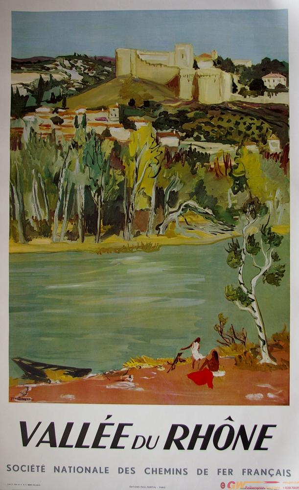 Poster, French Railways, 'Vallee Du Rhone' By Yves