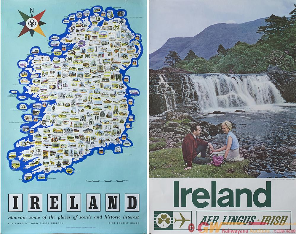 Poster IRELAND Pictorial Map With Coloured Images