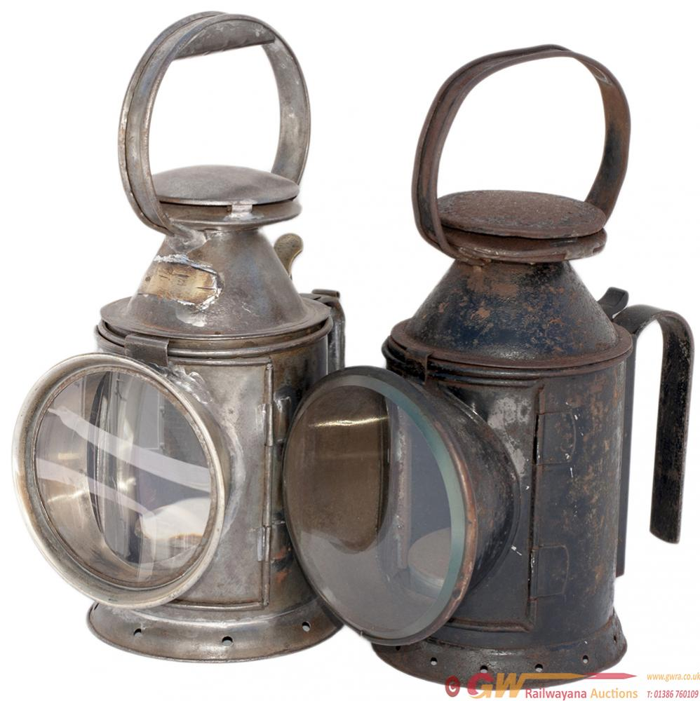 A Pair Of LNWR 3 Aspect Apprentice Lamps. Both