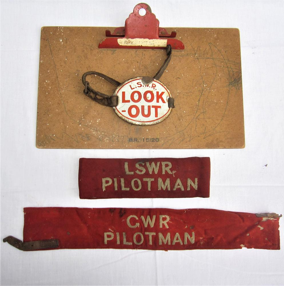GWR Cloth PILOTMAN Arm Band Together With An LSWR