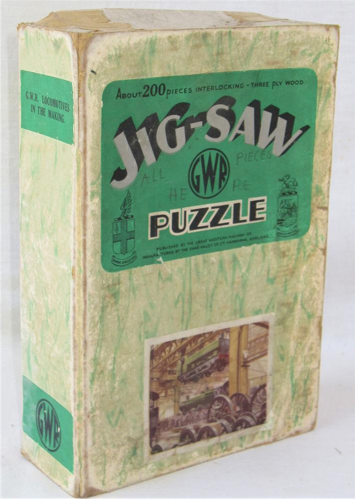 GWR Jigsaw. GWR LOCOMOTIVES IN THE MAKING. Box