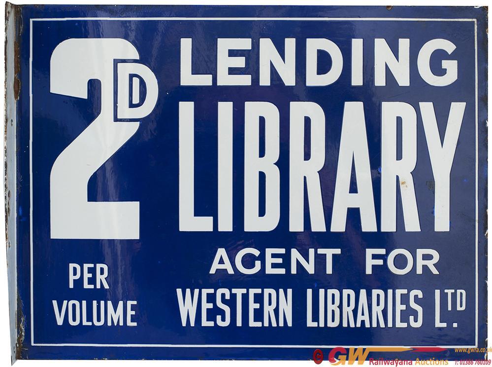 Enamel Double Sided Advertising Sign 2d LENDING