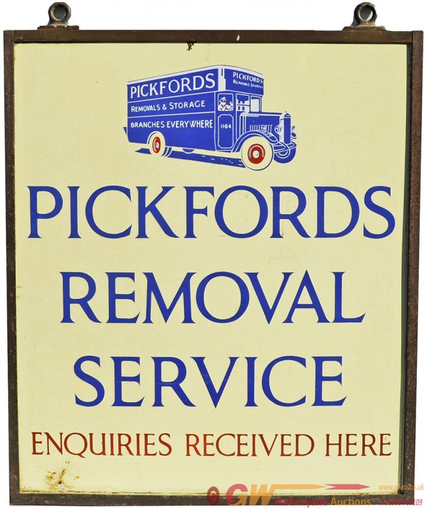 Enamel Advertising Sign 'Pickfords Removal Service