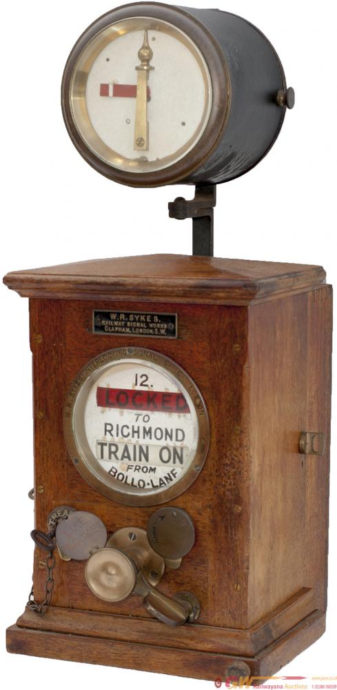 LSWR Sykes Lock And Block Instrument, Dial Painted