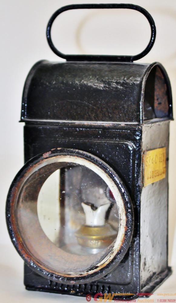 SE&CR Cart Lamp. Round Bevel Front Lens, Oblong