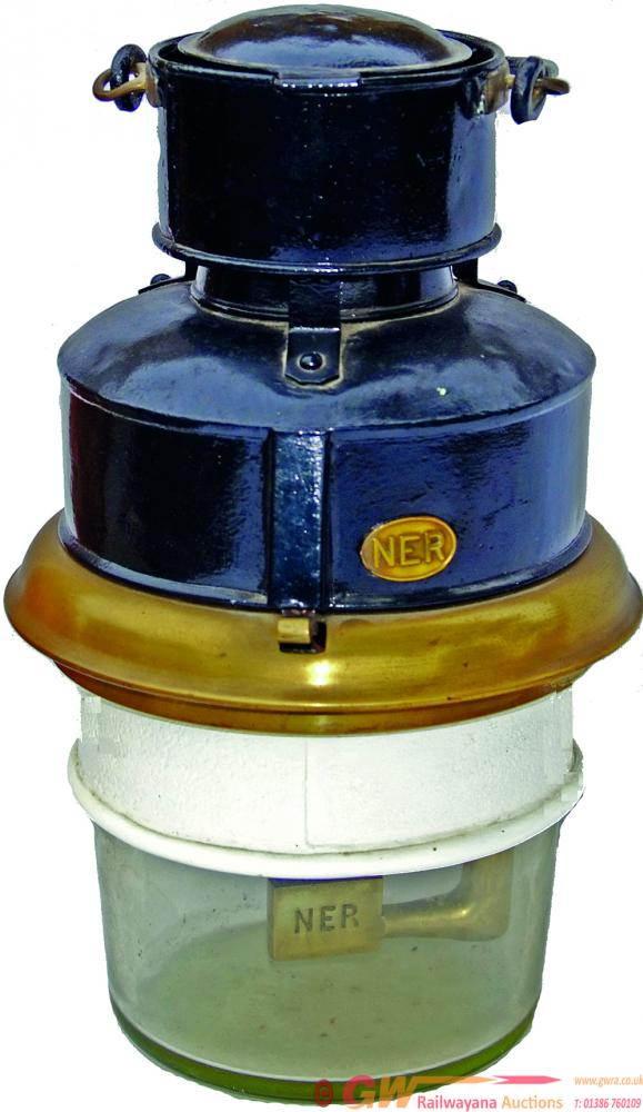 North Eastern Railway Carriage Pot Lamp Complete