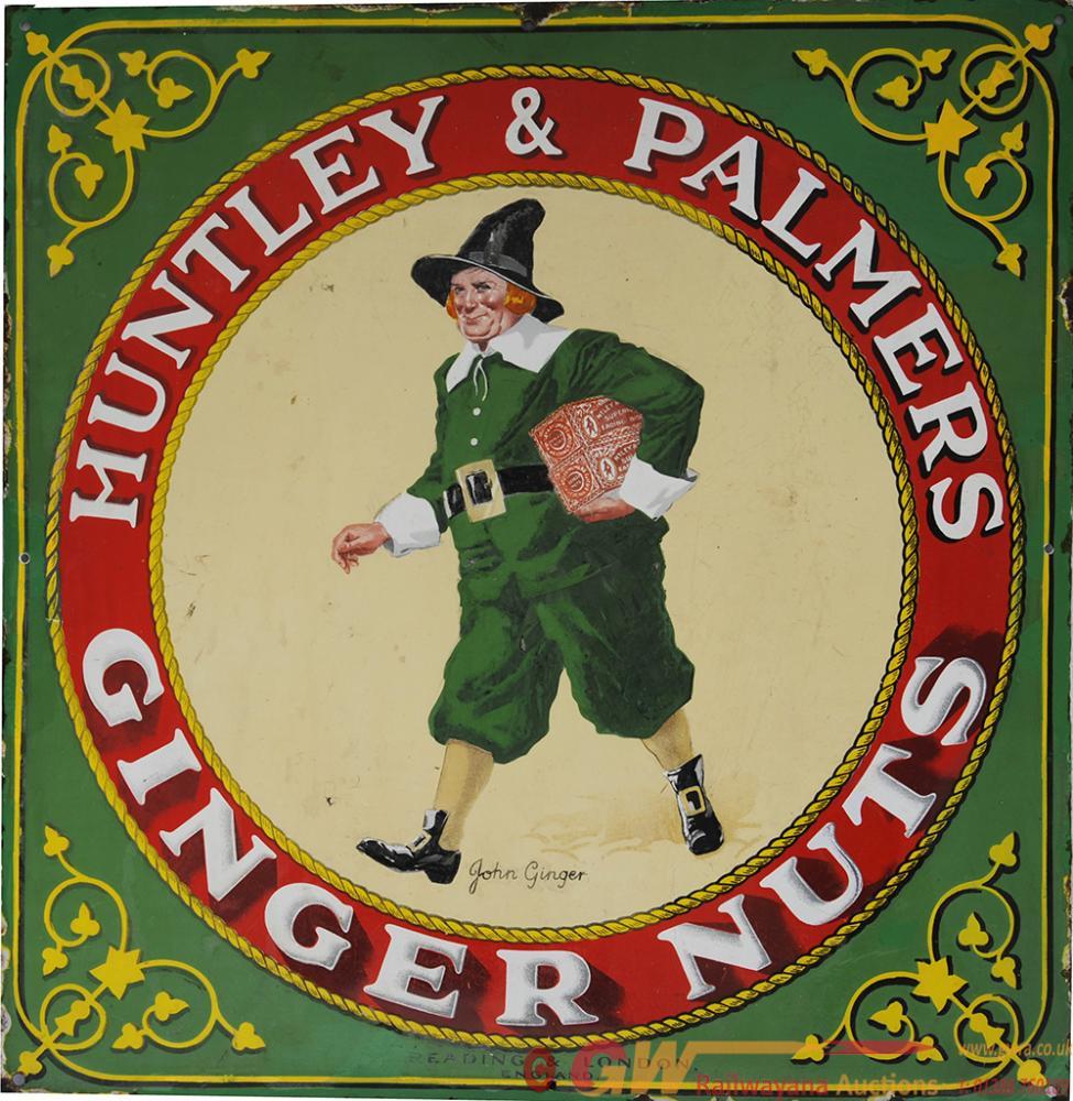 Enamel Advertising Sign 'Huntley & Palmers John