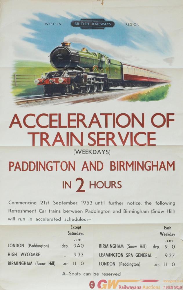 Poster  'British Railways Western Region