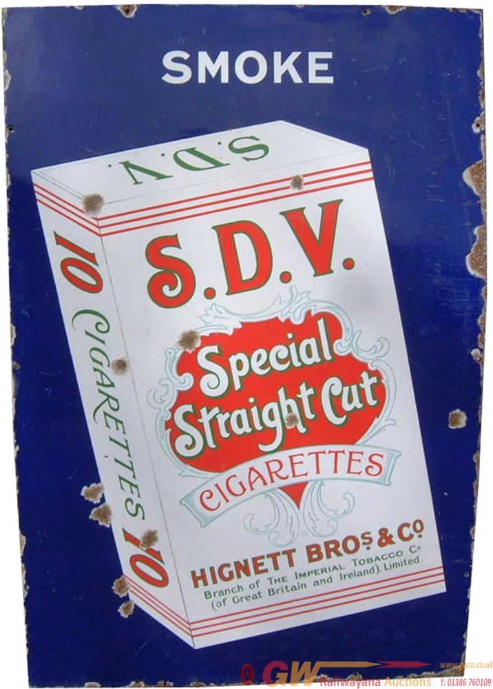 Advertising Enamel Sign 'Smoke SDV Special