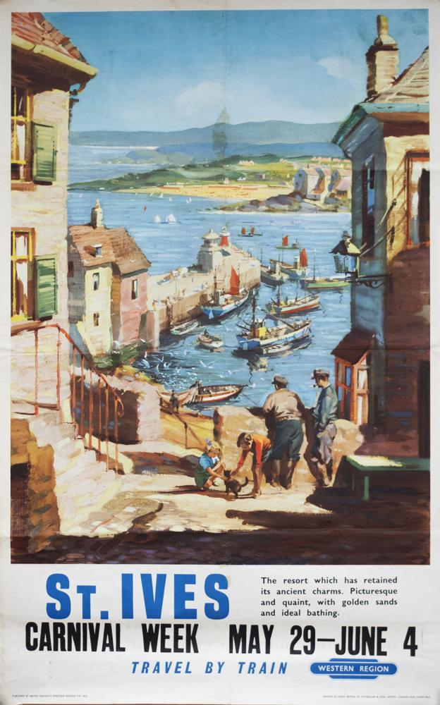 Poster BR(W) ST IVES By John Power. Double Royal