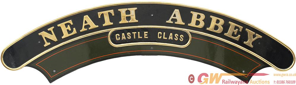 Nameplate NEATH ABBEY (CASTLE CLASS) Ex GWR