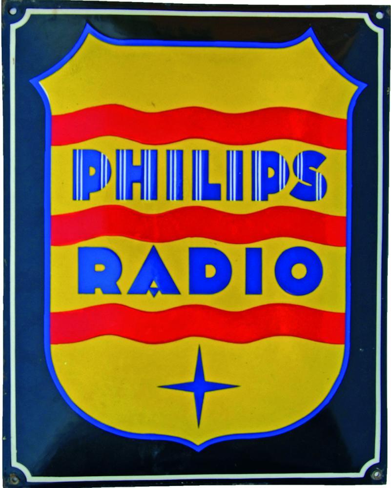 Enamel Advertising Sign 'Phillips Radio'. Simple