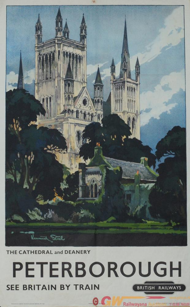 Poster BR(E) 'Peterborough' By Kenneth Steele