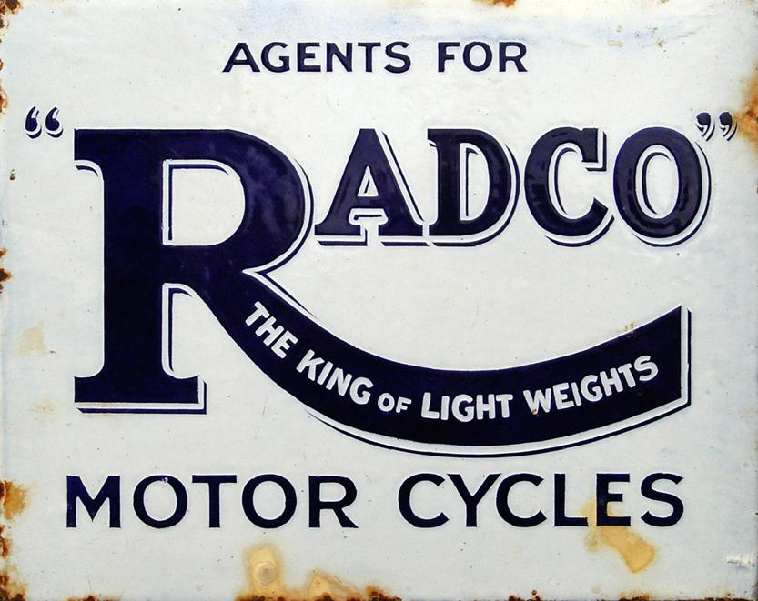 Enamel Advertising Sign, 'Agent For Radco - The