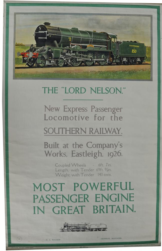 Southern Railway Poster 'The Lord Nelson - New