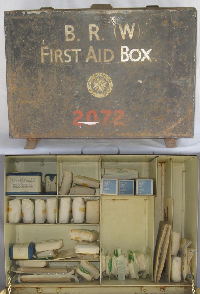BR(W) No 2 FIRST AID BOX 2072. Inclusive Of