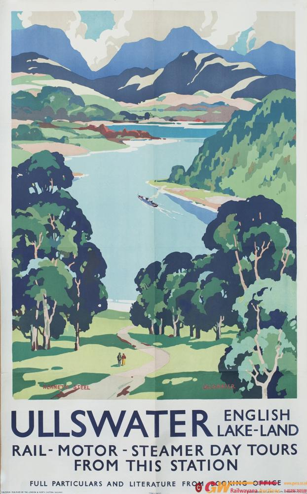 Poster LNER ULLSWATER ENGLISH LAKE-LAND By Kenneth