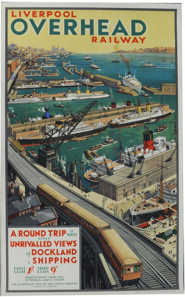 Poster 'Liverpool Overhead Railway' By WT, D/R