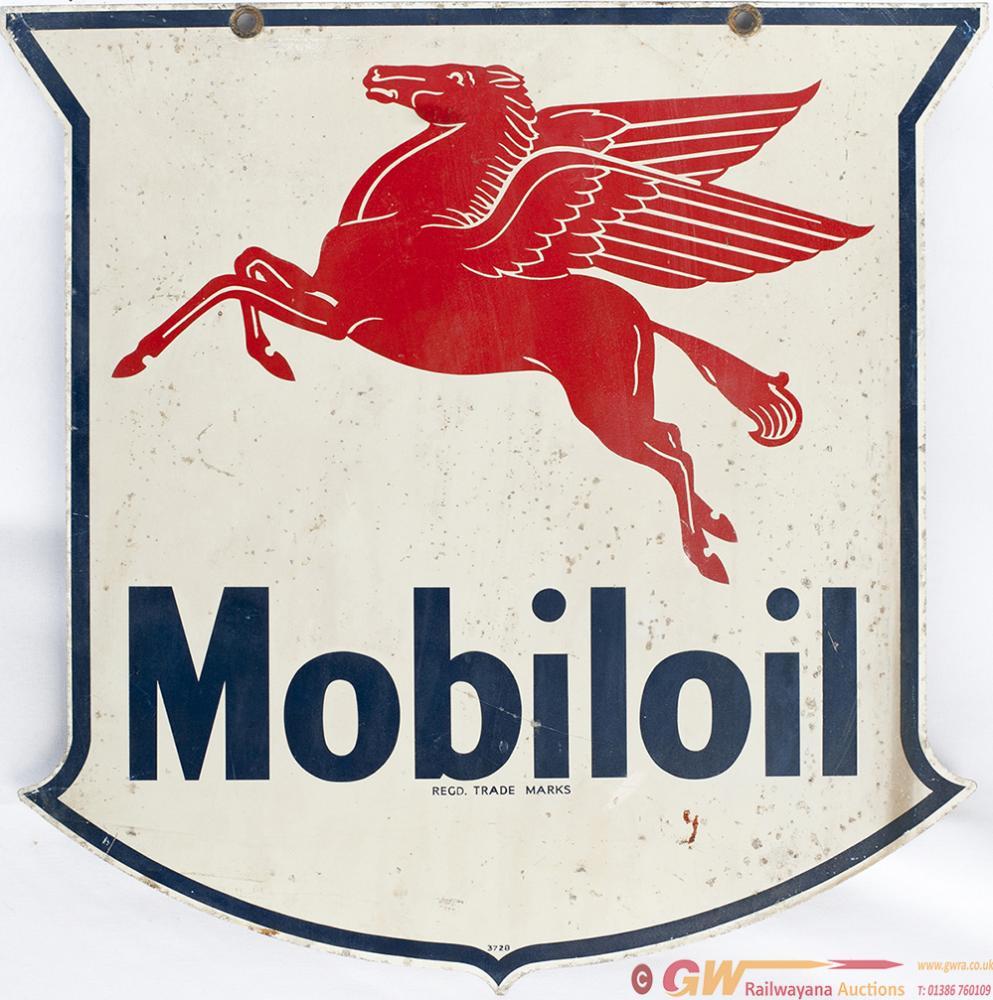 Screen Printed Aluminium Motoring Sign MOBILOIL,