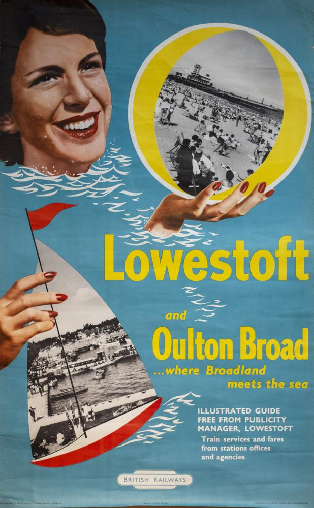 Poster BR(E) LOWESTOFT AND OULTON BROAD WHERE
