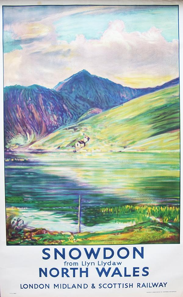 Poster LMS 'Snowdon From Llyn Llydaw North Wales'