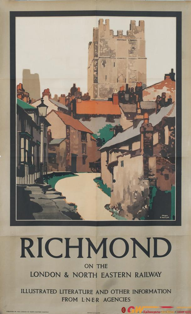 Poster LNER RICHMOND ON THE LONDON & NORTH EASTERN