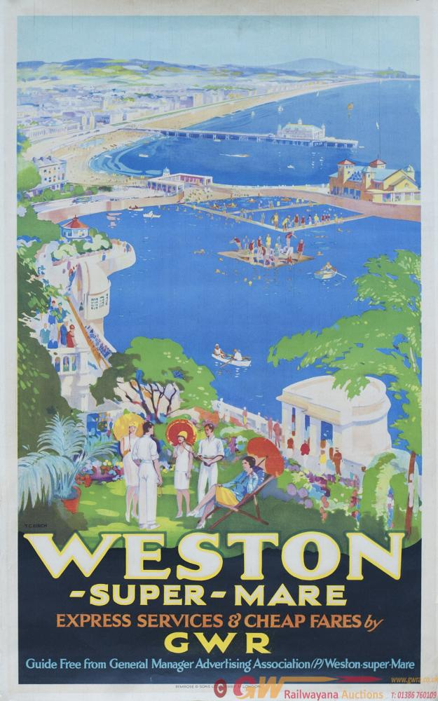 Poster GWR WESTON-SUPER-MARE EXPRESS SERVICES &