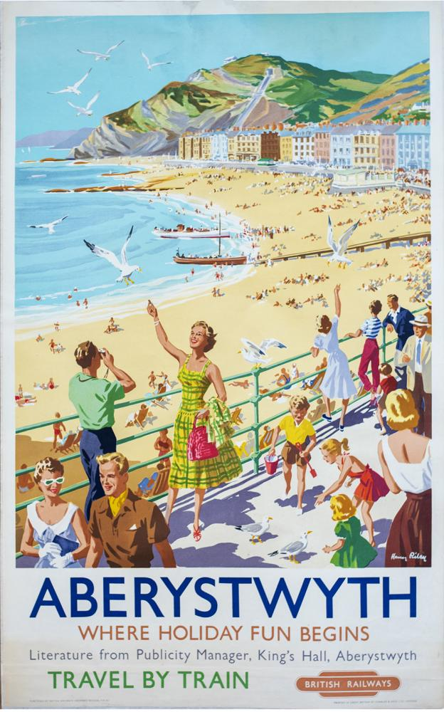 Poster BR(W) ABERYSTWYTH WHERE HOLIDAY FUN BEGINS
