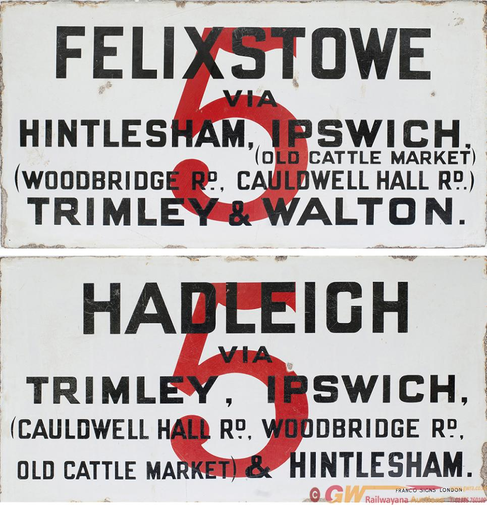 Bus Advertising Double Sided Enamel Sign. One Side