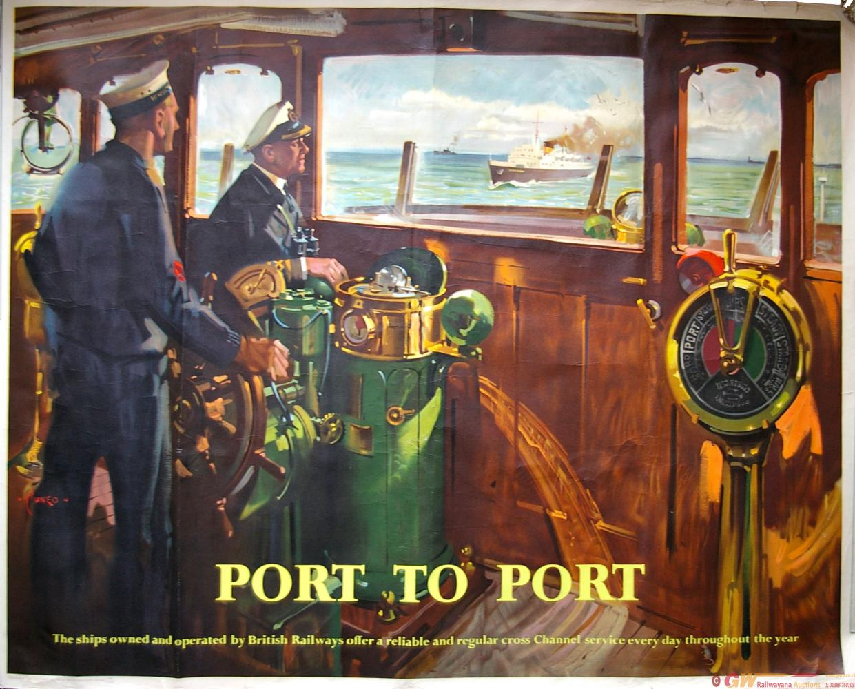 Poster, British Railways(S) Q/R 'Port To Port' By