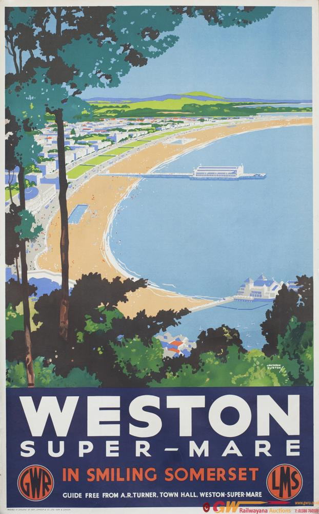 Poster GWR/LMS WESTON-SUPER-MARE IN SMILING