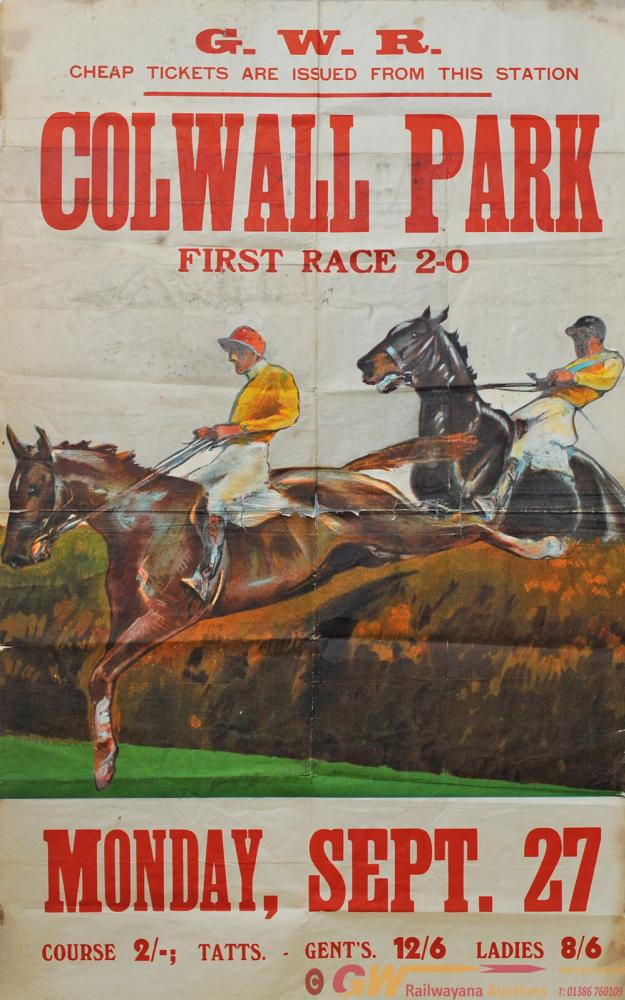 Poster GWR  Horse Racing 'Colwall Races - Monday