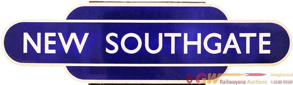 Totem BR(E) NEW SOUTHGATE H/F. Ex GNR Station