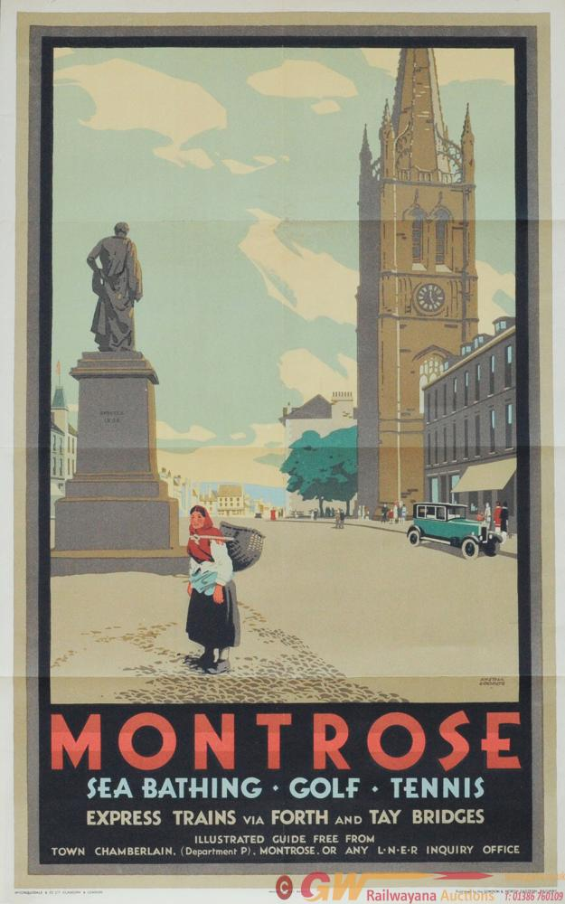 Poster - 'Montrose - Express Trains Via Forth And