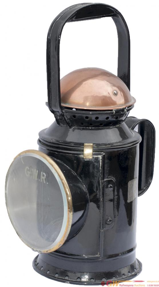 GWR 3 Aspect Coppertop Handlamp Complete With GWR